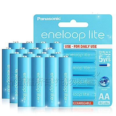 藍鑽輕量版 Panasonic eneloop lite 低自放3號充電電池(16顆入)