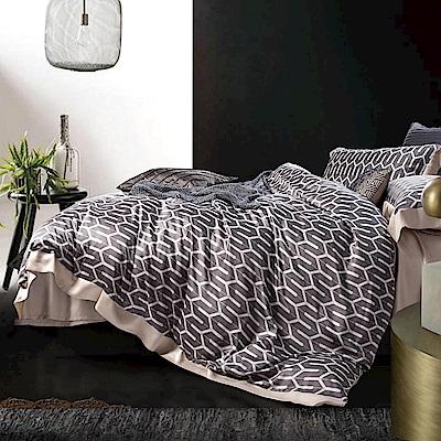 Lily Royal 60支頂級天絲 四件式兩用被床包組 雙人 海莉灰