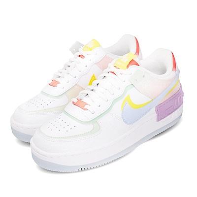 Nike 休閒鞋 Af1 Shadow 運動 女鞋 厚底 舒適 穿搭 色塊拼接 球鞋 白 藍 CW2630141