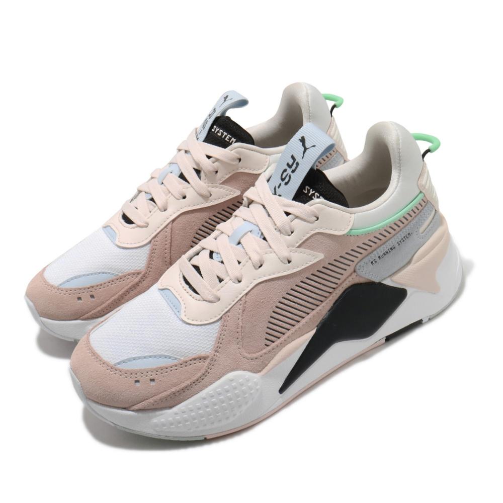 Puma 休閒鞋 RS X Reinvent 女鞋 老爹鞋 厚底 麂皮 球鞋穿搭 粉 白 37100804