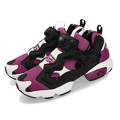 Reebok 休閒鞋 Instapump Fury OG 經典 充氣 男鞋 銳步 原版配色 都教授 潮流 球鞋 黑 紫