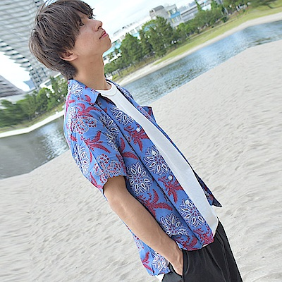 ZIP日本男裝 復古蠟染圖開領襯衫(11色)