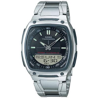CASIO 個性時尚雙顯錶-黑(AW-81D-1A)/38.6mm