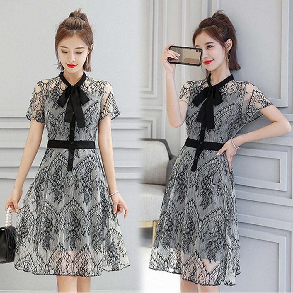 【韓國K.W.】時尚精選英倫街拍洋裝