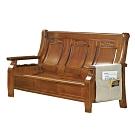 綠活居 范瑟亞雅緻風實木三人座沙發椅-186x79x103cm免組