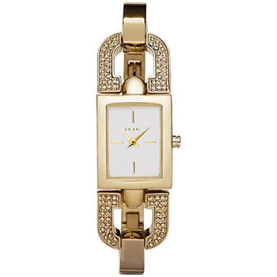 DKNY-典雅別緻迷人晶鑽時尚腕錶-金-24mm
