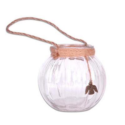 Homely Zakka 午後時光唯美麻繩玻璃瓶/置物瓶/南瓜吊瓶