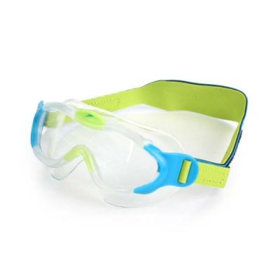 SPEEDO 幼童進階面罩泳鏡 水藍螢光綠