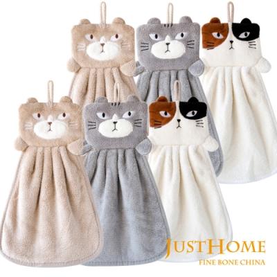 Just Home 耍酷喵超細纖維擦手巾(6入組)
