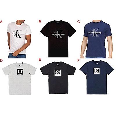 [時時樂限定] Calvin Klein DC 男款 短袖 T恤  (6款任選)