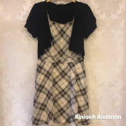 【Kinloch Anderson金安德森女裝】雪紡肩活褶假兩件洋裝