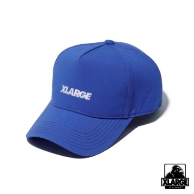 XLARGE STANDARD LOGO 5PANEL CAP經典刺繡棒球帽-藍