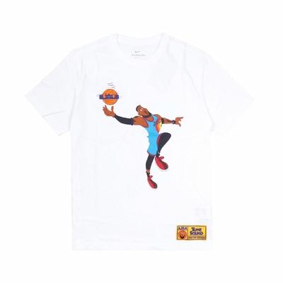 Nike T恤 LeBron Space Jam Tee 男款 怪物奇兵 Dri-FIT 吸濕排汗 運動休閒 白 DH3832-100