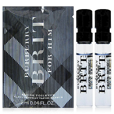 BURBERRY BRIT for HIM 風格男性淡香水針管2mlx2入(法國進口)