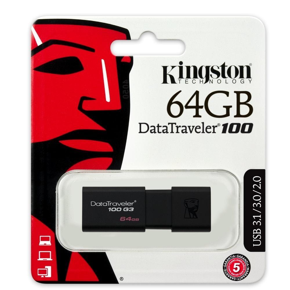 金士頓 Kingston DataTraveler 100 G3 USB3.0 64GB隨身碟