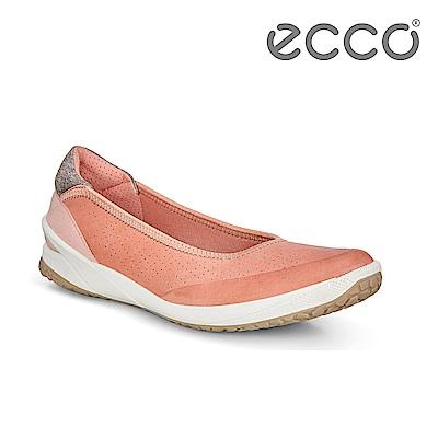 ECCO BIOM LIFE. 彈力輕便套入式平底休閒鞋 女-粉