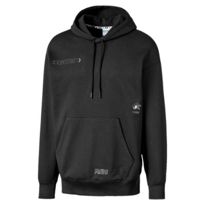 PUMA-男性流行系列SONIC長厚連帽T恤-黑色-歐規