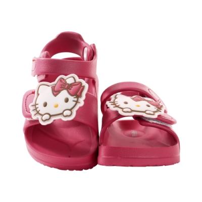 魔法Baby女童鞋 台灣製Hello kitty授權正版極輕涼鞋sk0989