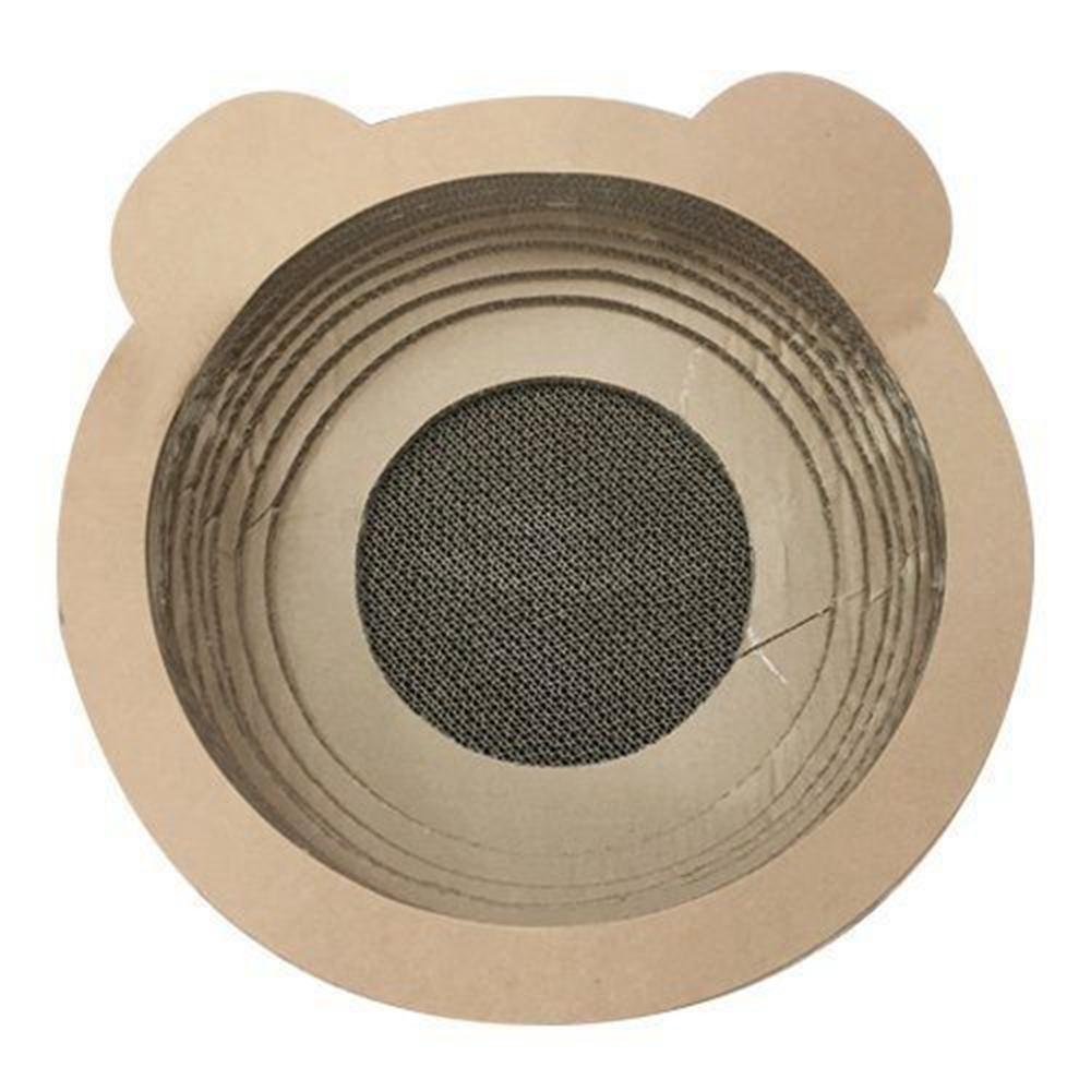 日本寵喵樂《貓耳朵碗型貓抓板》貓窩/貓跳台 SY-116X2入組