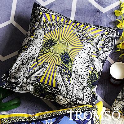 TROMSO 奢華義大利棉麻抱枕-U175輝煌雙豹