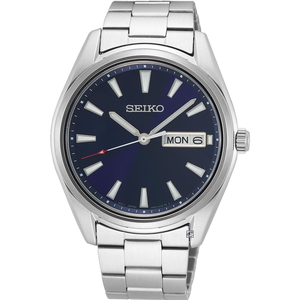 SEIKO精工經典簡約紳士腕錶 6N53-00A0B SUR341P1/40mm