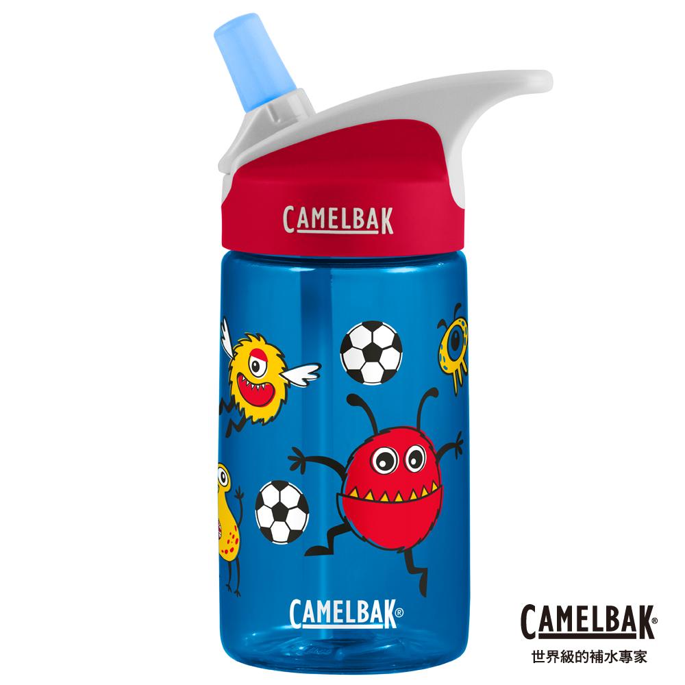 【美國 CamelBak】400ml eddy兒童吸管運動水瓶 怪獸足球