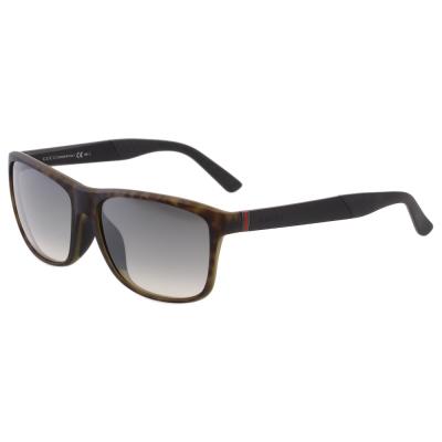 GUCCI- 帥氣運動款 水銀鏡面 太陽眼鏡(琥珀色)