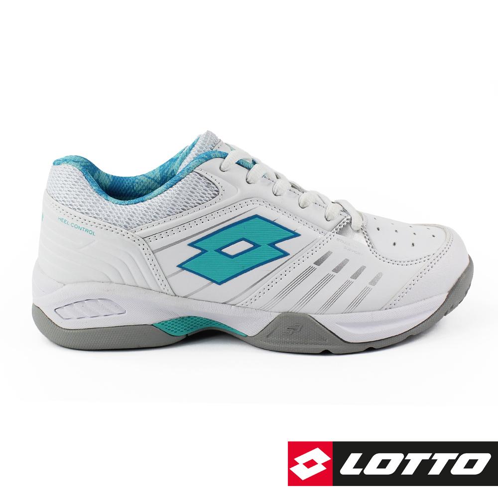 LOTTO 義大利 女 T-TOUR 600 全地型網球鞋 (白/松石綠)