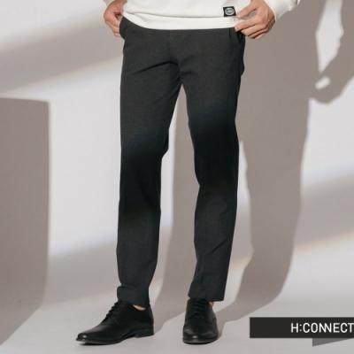 H:CONNECT 韓國品牌 男裝 -質感純色西裝褲-灰(快)