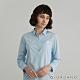 GIORDANO  女裝純棉口袋襯衫 - 01 淺藍 product thumbnail 1