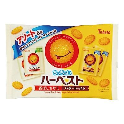 東鳩 微笑餅乾分享包-芝麻&奶油口味(27gx6入)