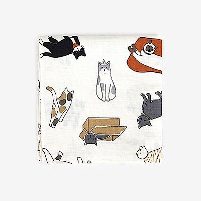 Dailylike 北歐風綿質手帕-36 玩伴貓