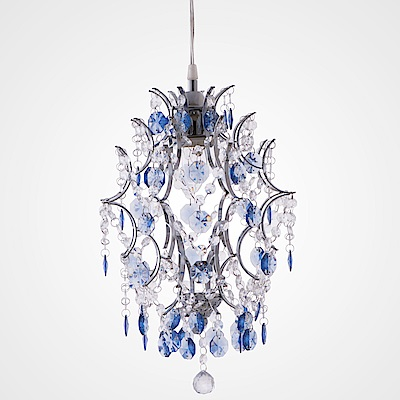 bnatural 優雅鍍鉻架壓克力珠吊燈 BNL00044