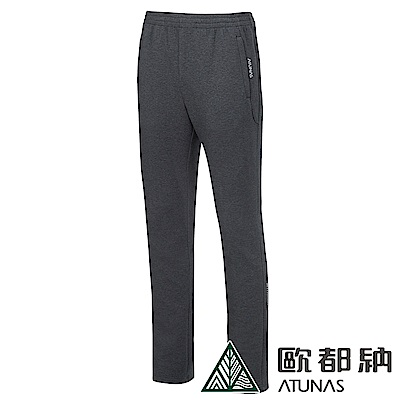 【ATUNAS 歐都納】男款彈性保暖休閒舒適棉質長褲A1-PA1820M麻花黑