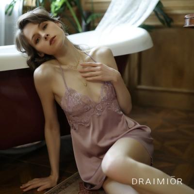 性感睡衣 DRAIMIOR絲滑花瓣蕾絲吊帶睡裙 久慕雅黛