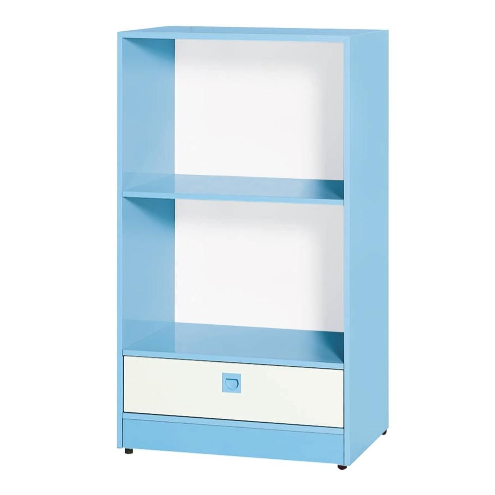 文創集 安倍 環保2尺南亞塑鋼單抽開放二格置物櫃/收納櫃-61.4x45x110.5cm免組