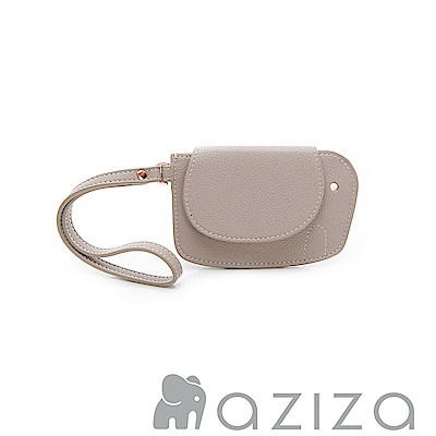 AZIZA 小象手拎零錢包-灰