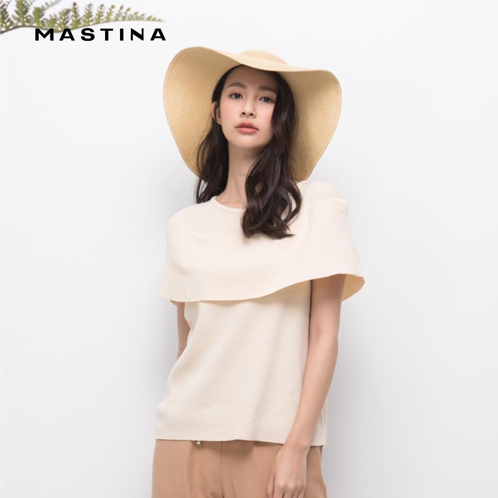 【MASTINA】造型披肩式背心-針織衫(三色)