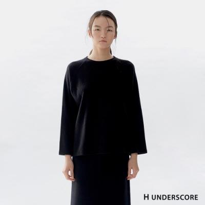 H UNDERSCORE 全新潮牌 女裝 - 休閒寬鬆針織套裝 - 黑色
