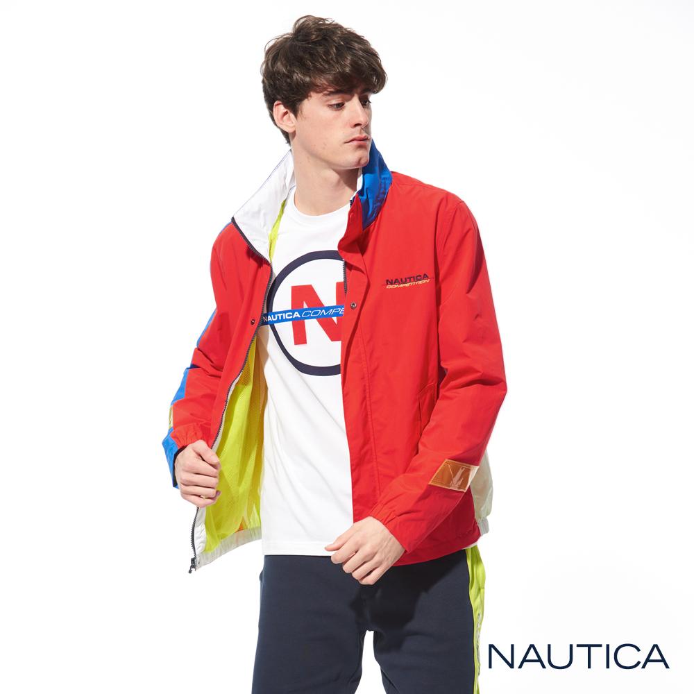 Nautica COMPETITION系列防潑水外套-橘色