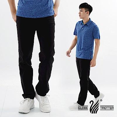 【遊遍天下】基本款修身彈力時尚休閒長褲P137 黑色