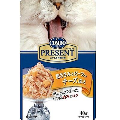 【任選】COMBO PRESENT 吻饌蒸煮食《雞肉+牛肉+起司》40G