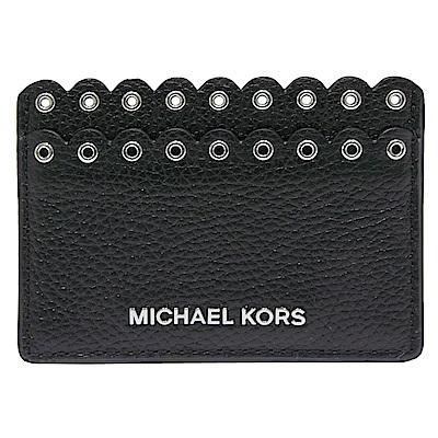MICHAEL KORS MONEY PIECES 飾邊牛皮名片夾-黑色