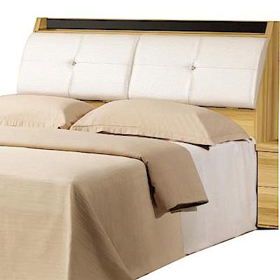 綠活居 伽利略時尚6尺皮革木紋雙人加大床頭箱-182x30x102cm-免組