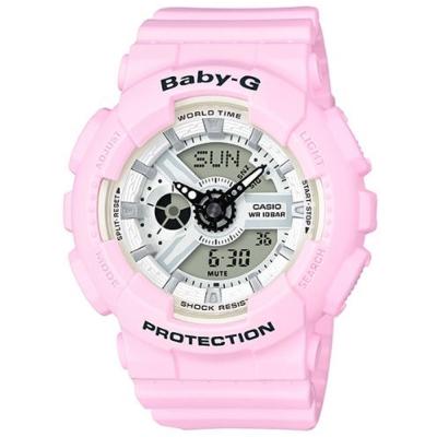 BABY-G馬卡龍粉嫩春天氣息風格休閒錶( BA-110BE-4A)/粉紅43.3mm