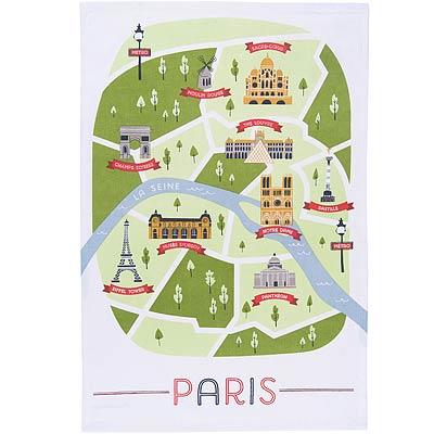 NOW 餐廚布巾(巴黎地圖)