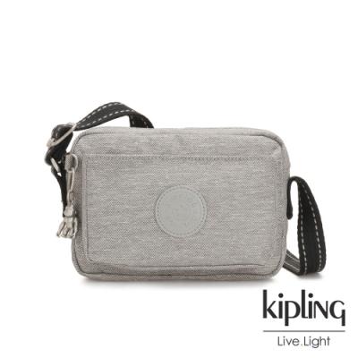 Kipling 清新柔和丹寧灰前後加寬收納側背包-ABANU