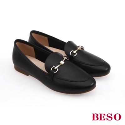 BESO時尚流行-國民小資女百搭樂福鞋(網路獨家款)-黑色