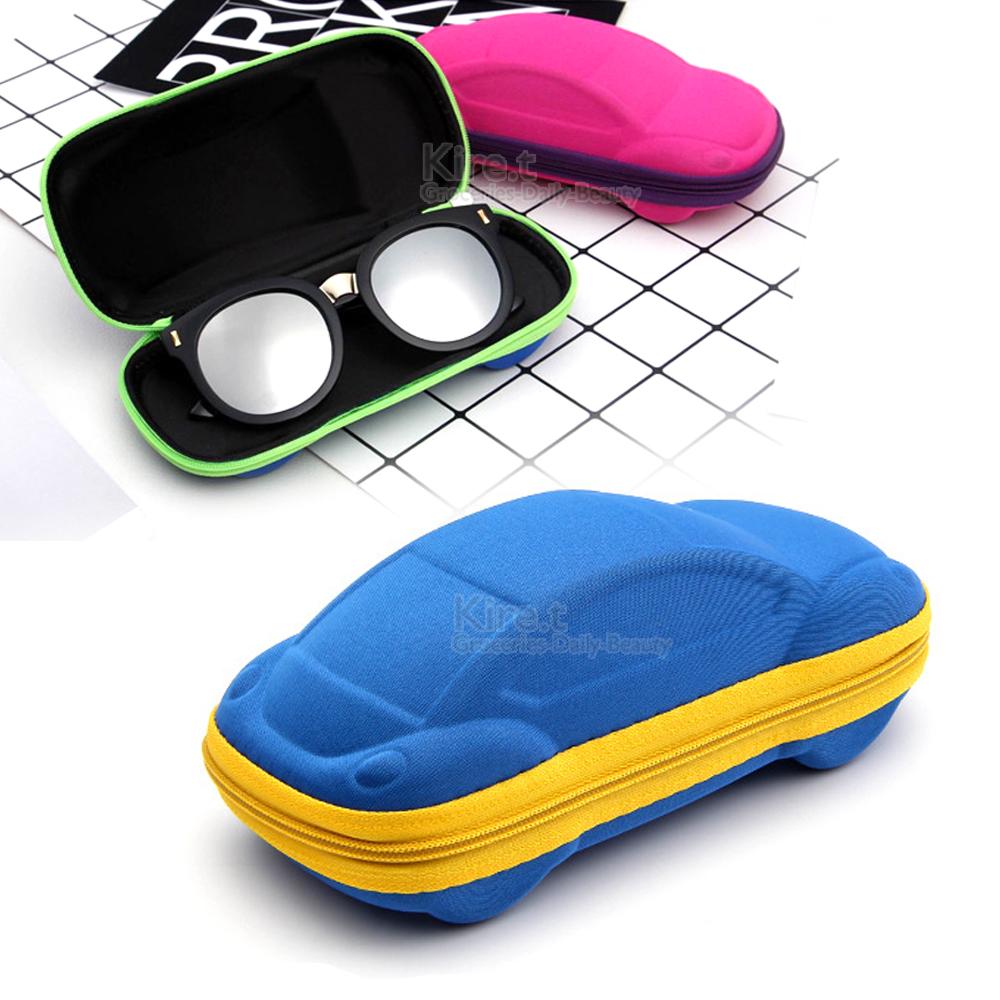 兒童小汽車造型眼鏡盒-附贈眼鏡布 kiret