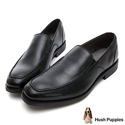Hush Puppies MUDI LOAFER 超彈力皮鞋-黑